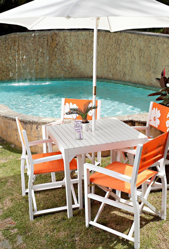 4 Chairs Paix Patio Set - Orange