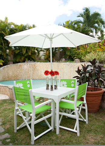 4 Chairs Paix Patio Set - Green