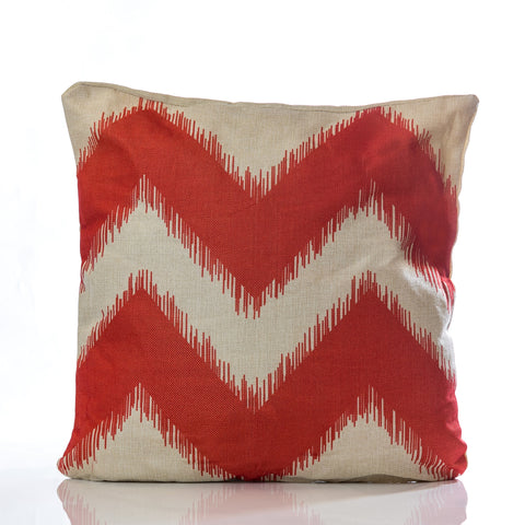 "Zig Zag Pillow - Red 18"" x 18"""