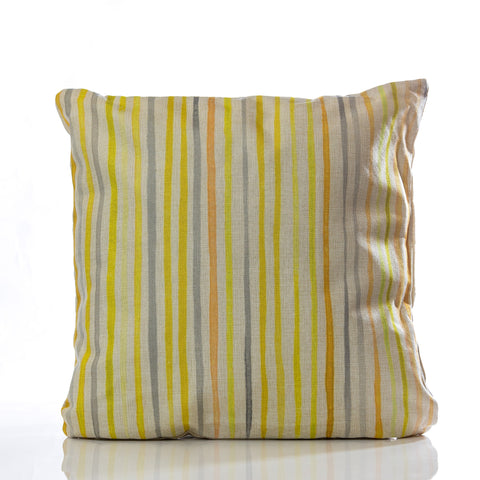 "Lines Pillow - YL/GRAY 18""x18"""