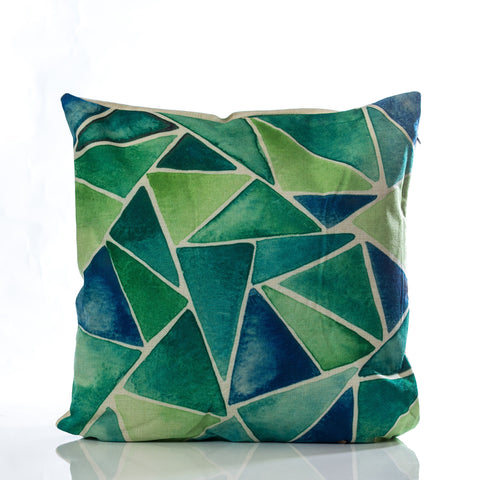 "Collage Pillow - Green Combination 18""x18"""