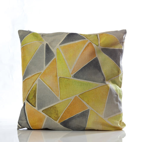 "Collage Pillow - YL/GRAY 18""x18"""