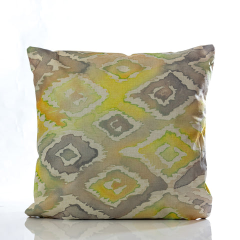 "Acuarela Pillow - YL/GRAY 18""x18"""