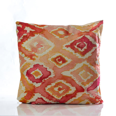 "Acuarela Pillow - RD/ORG18""x18"""