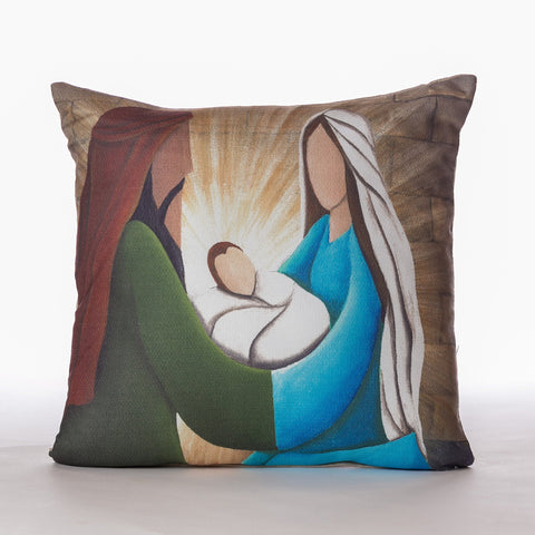 """Nativity"" Cream Pillow 18""x18"" - Casa Febus - Home • Design"