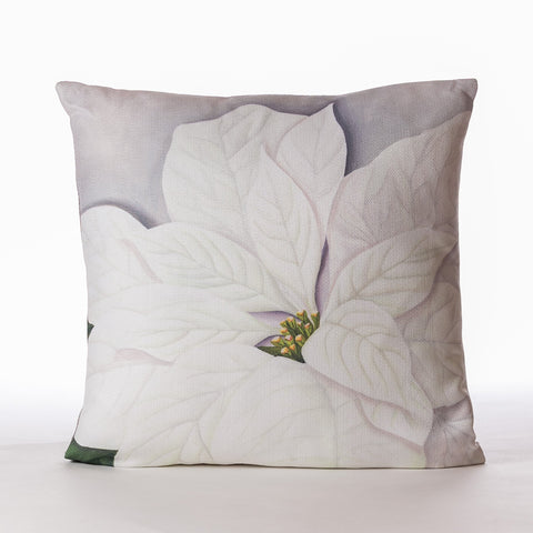 """White Poinsettia"" Silver Pillow - Casa Febus - Home • Design"
