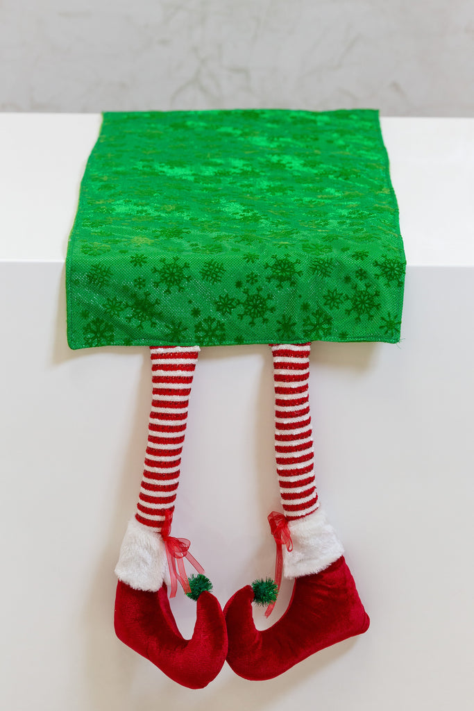 "14"" x 88"" Happy Elf Table Runner - Green"