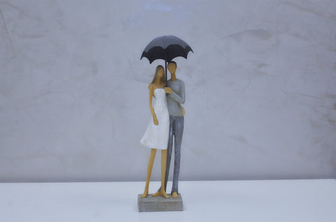 "Nantes Couple w/ Umbrella too - 12""H"