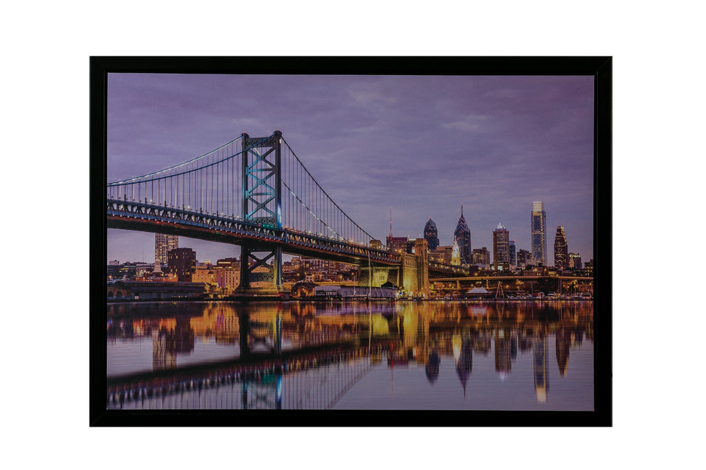 "The City Bridge A - Canvas w/LED 20"" x 28"""