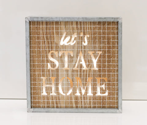 "10"" Let's Stay Light Box - Battery Operated"