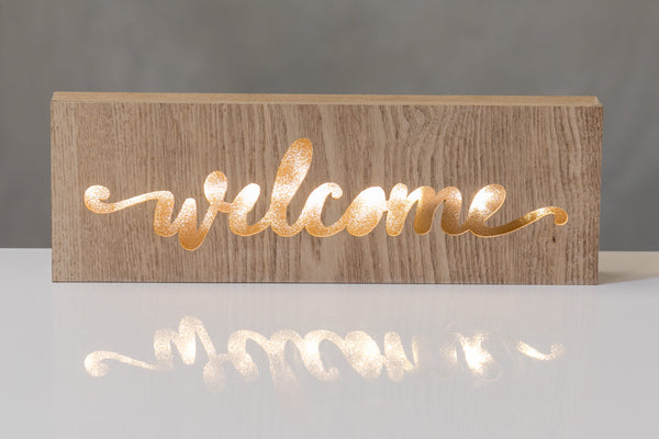 "12""  Light Box - Welcome - Battery Operated"