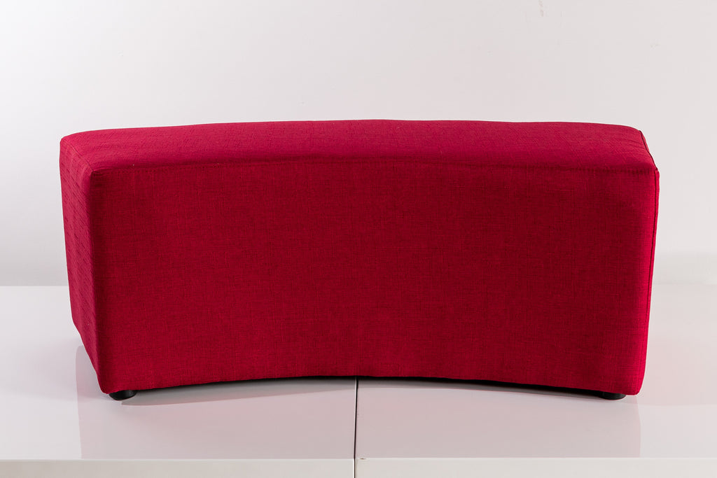 "Serene ""C"" Shape Ottoman - 42"" x 16"" x 17"" - Chilli Red"