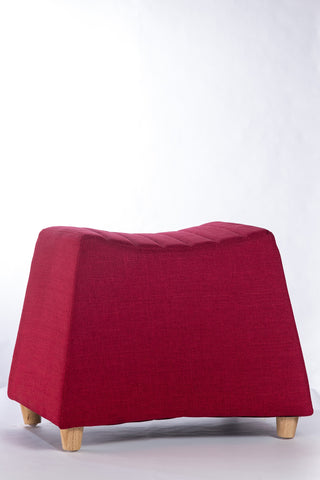 "Serene Rectangle Ottoman - 21"" x 13"" x 17"" - Chilli Red"