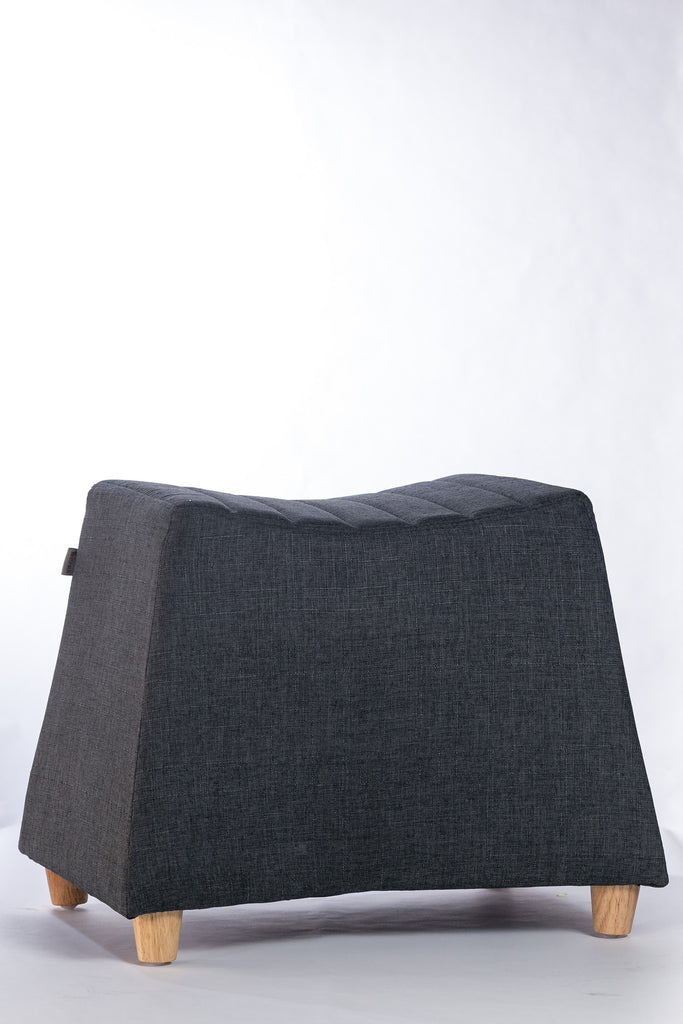 "Serene Rectangle Ottoman - 21"" x 13"" x 17"" - Charcoal Gray"