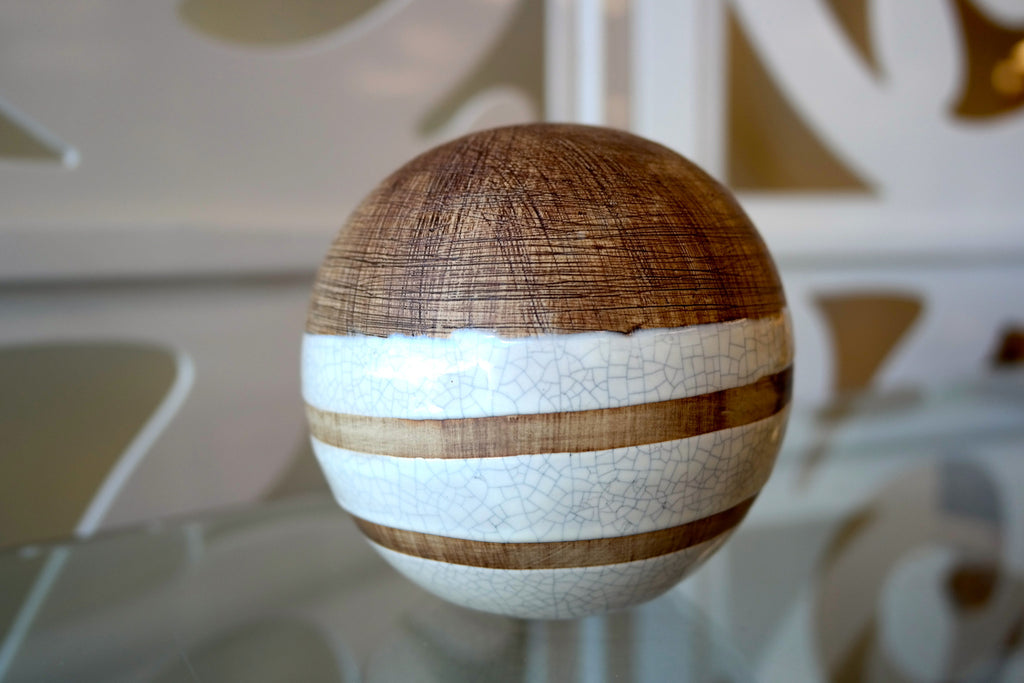 Créme Faux Wood Ball 4""