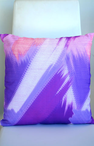 "Tropics Cushion - Plum Color Mix 18"" x 18"""