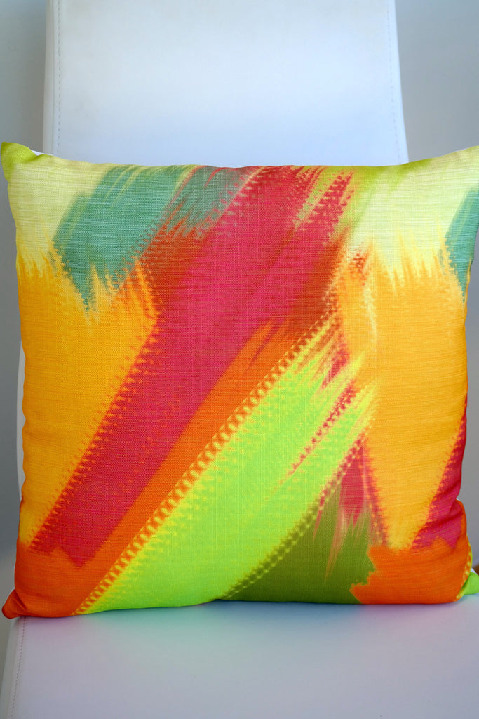 "Tropics Cushion - Limón Color Mix 18"" x 18"""