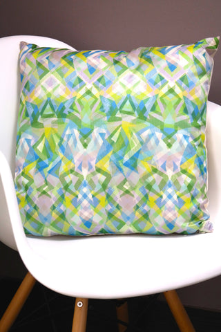 "Mosaico Cushion - Lime Color Mix 18"" x 18"""