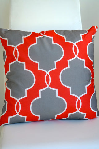 "Regal Cushion - Fiery Red 18"" x 18"""