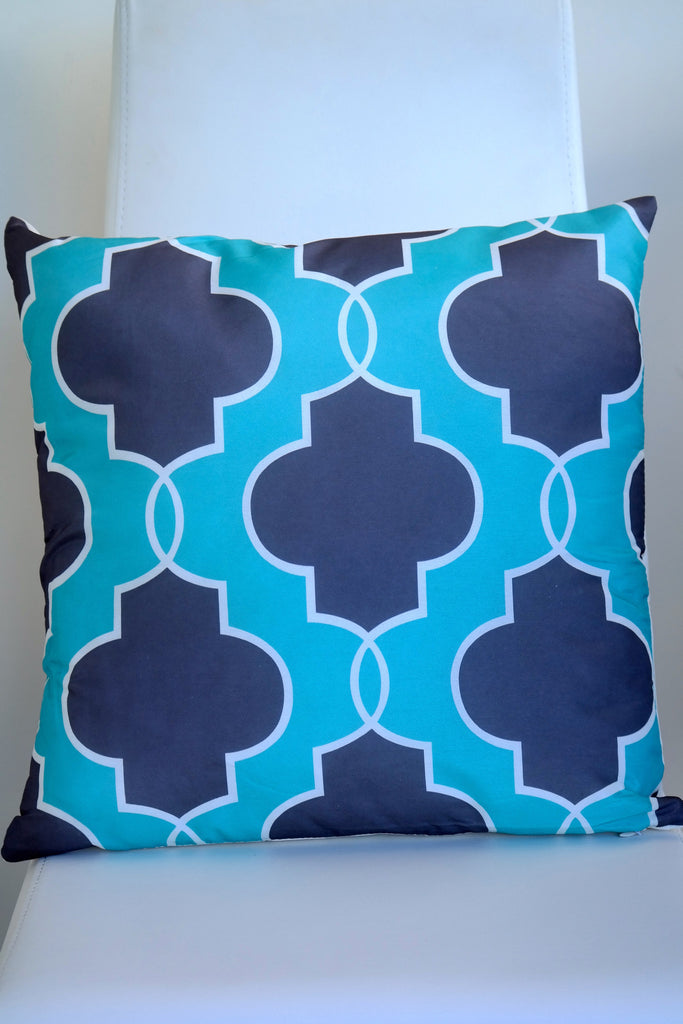 "Regal Cushion - Diamond Blue 18"" x 18"""