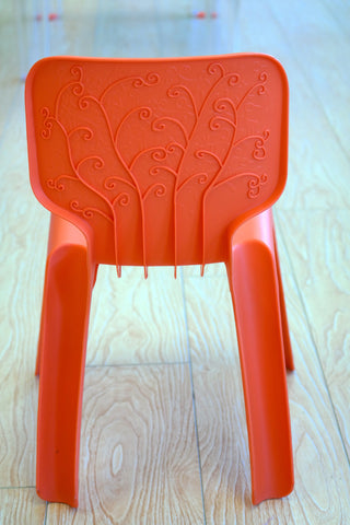 "HappyKids Children Chair - Fresh Orange 23""H"