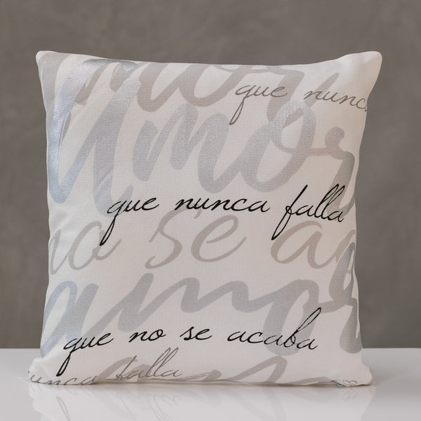 "18""x18"" Amor - Silver/Gray/Black Pillow by Liz"