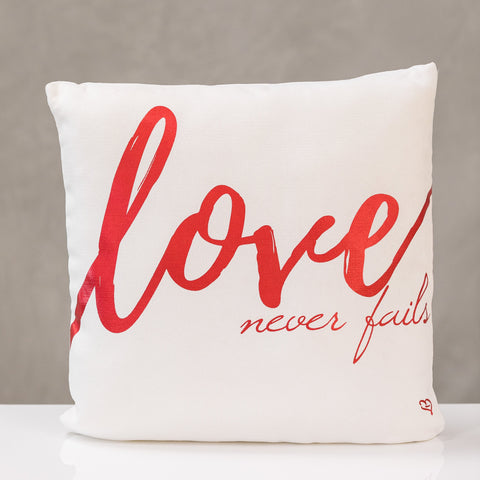 "18""x18"" Love - Red Pillow by Liz"