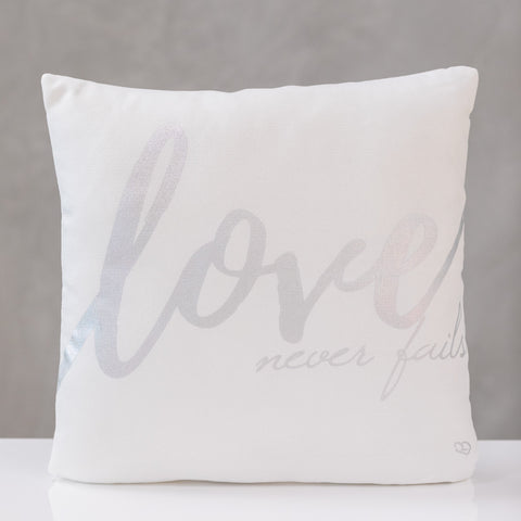 "18""x18"" Love - Silver Pillow by Liz"