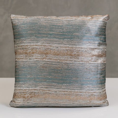 "17"" x 17"" Vogue Pillow - Gold/Sky Blue"