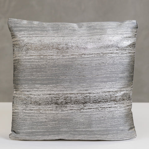 "17"" x 17"" Vogue Pillow - White/Silver"