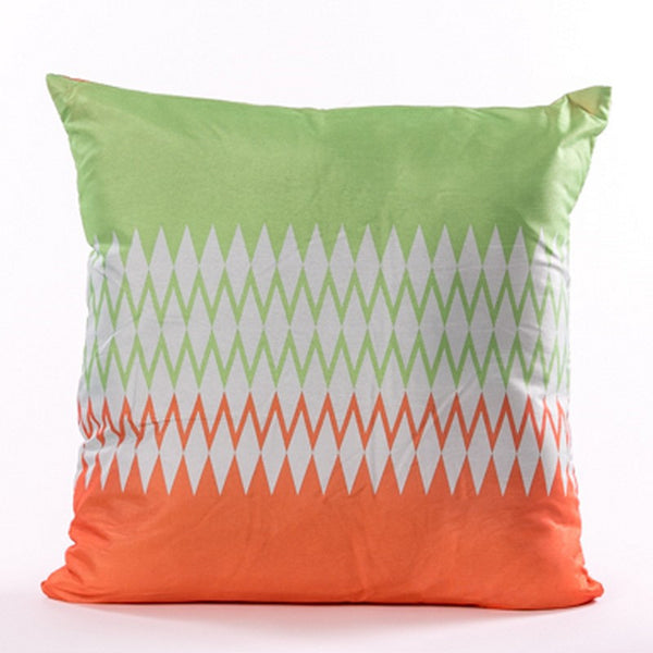 Brillant Cushion - Orange and Green