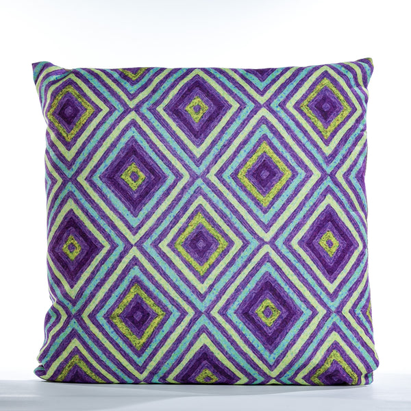 "Diamonds Cushion - Plum Mix 18"" x 18"""
