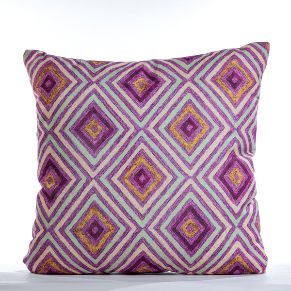 "Diamonds Cushion - Lilac Mix 18"" x 18"""