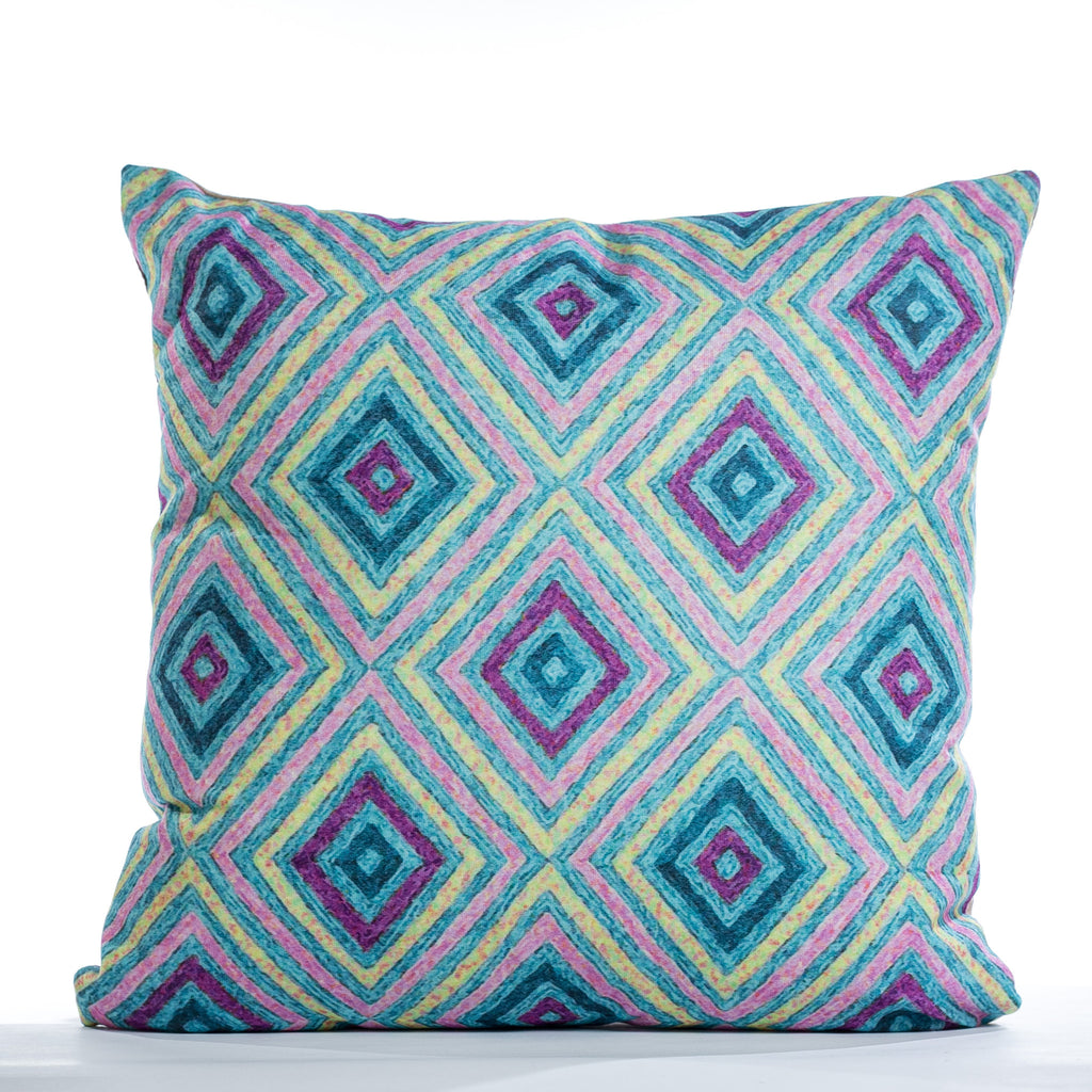 "Diamonds Cushion - Suave Mix 18"" x 18"""