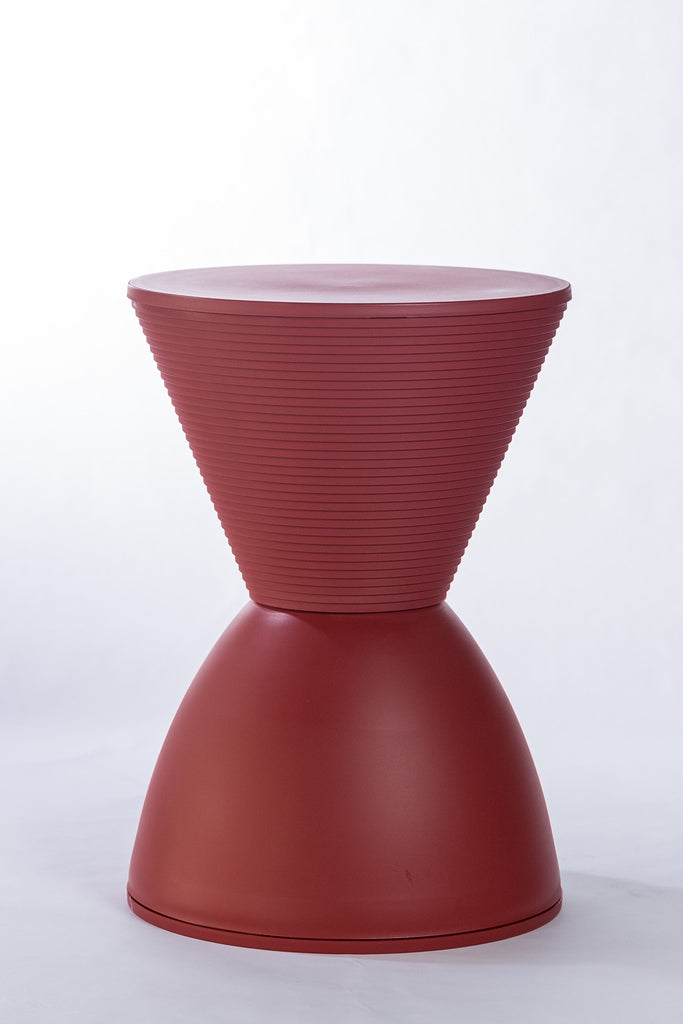 "Silhouette Vase Stand 17""H x 12""D - Chilli Red"