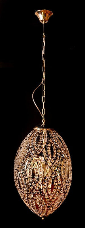 "Silver Egg Ceiling Lamp 26""H"