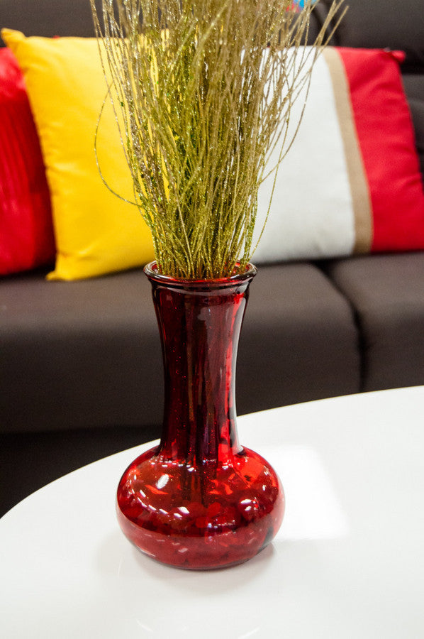 Fiesta Long Vase-Red
