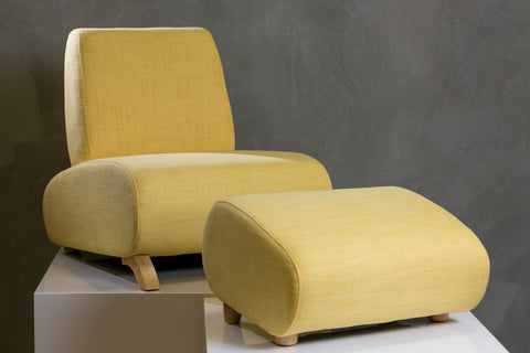 HappyKids Chair + Ottoman - Yellow