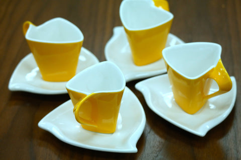 Elle Moyen Coffee Set of 4 Yellow