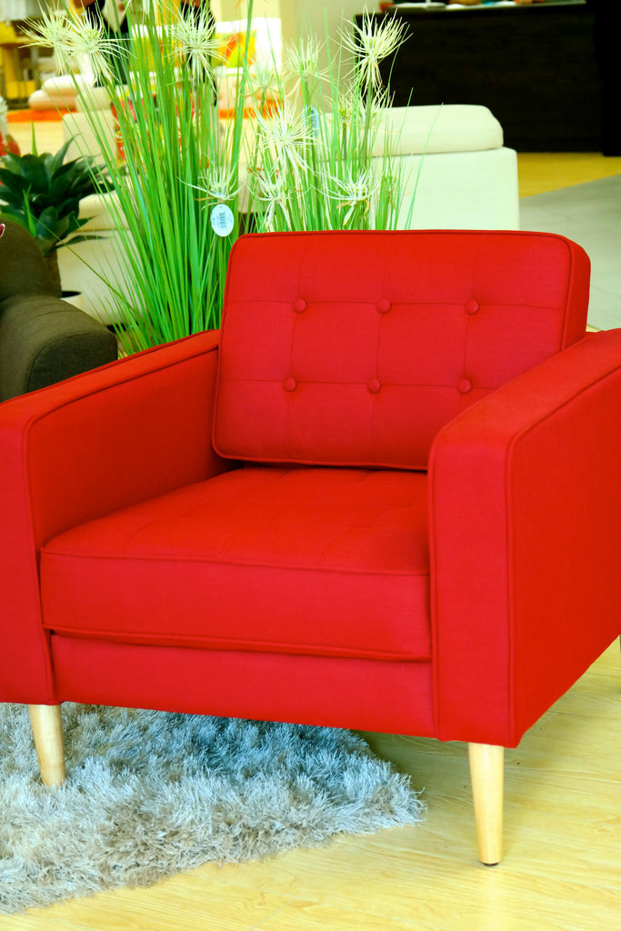 Olivia Armchair - Chilli Red