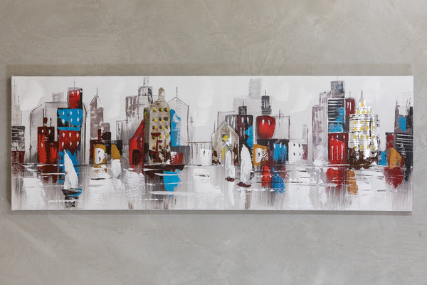 "20"" x 59"" Colorful City  Wall Décor"