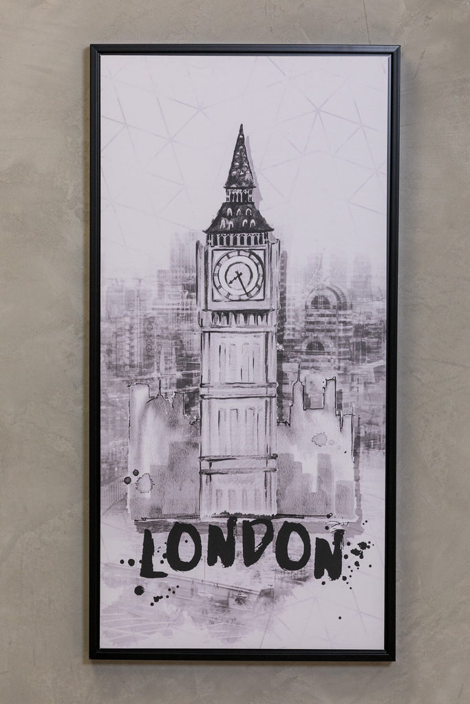 "16"" x 32"" Noir Wall Decor - London"