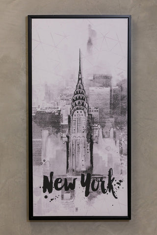 "16"" x 32"" Noir Wall Decor - New York"