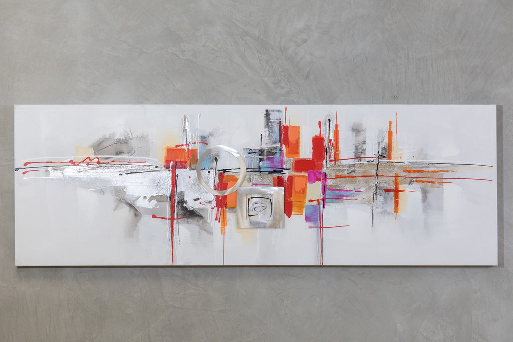 "20"" x 59"" Abstract City  Wall Décor"