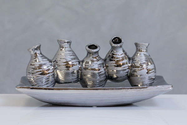 "11"" Metalle Mini Vases Too"