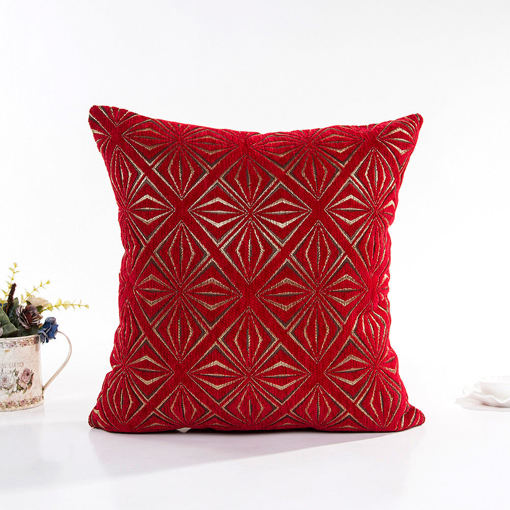 "17"" x 17"" Vintage Pillow Cover - Red/Gold (Exclusively Online)"
