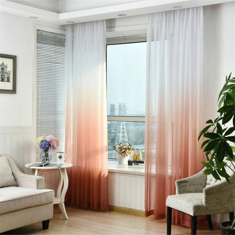 "100"" * 40"" Brise Curtain drape - White/Orange (Exclusively Online)"