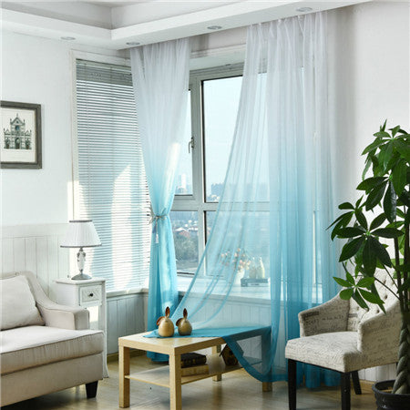 "100"" * 40"" Brise Curtain drape - White/Blue (Exclusively Online)"