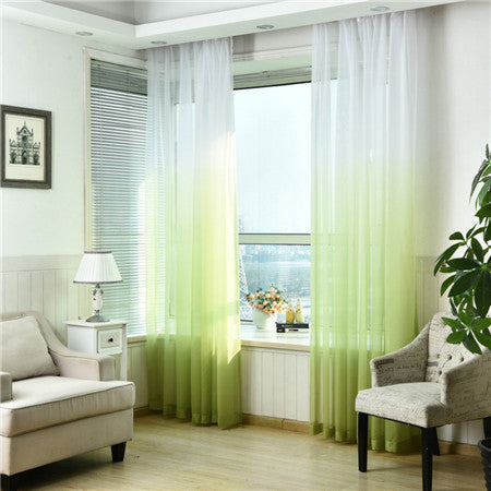 "100"" * 40"" Brise Curtain drape - White/Green (Exclusively Online)"