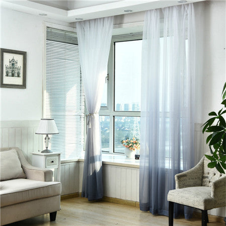 "100"" * 40"" Brise Curtain drape - White/Gray (Exclusively Online)"